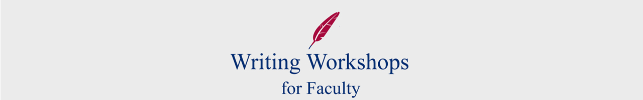 writing workshops for faculty banner image