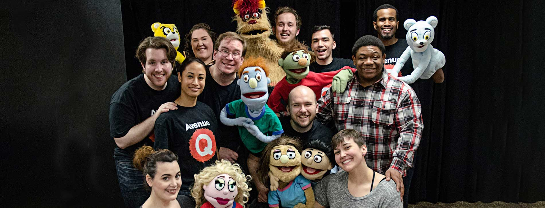 Detroit Mercy Theatre Company Cast Members from Avenue Q