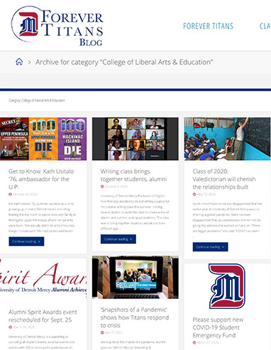 Detroit Mercy Alumni Blog Image