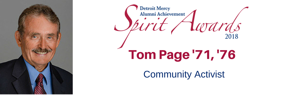 Tom Page '71, '76 Alumni Achievement Award Honoree